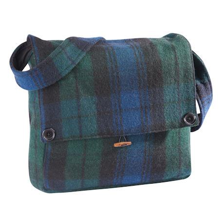 Scottish Tartan Wool Messenger Bag