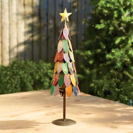 Recycled Metal Christmas Tree