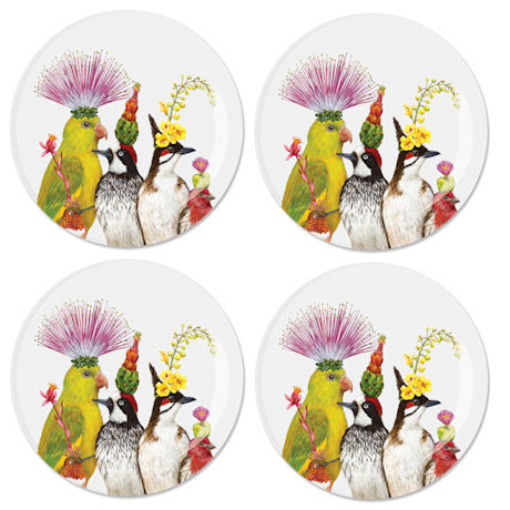 Vicki Sawyer Entourage of Birds Plates