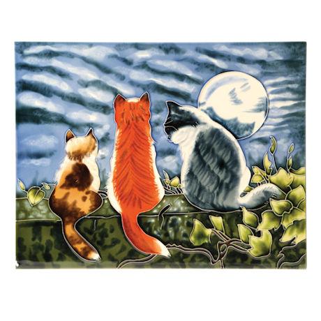 Cat Whispers Art Tile