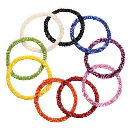 Seed Bead Bracelets Sets - Solid Colors