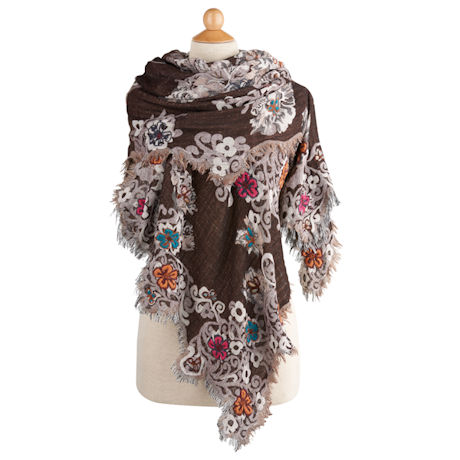Floral Scalloped Wrap
