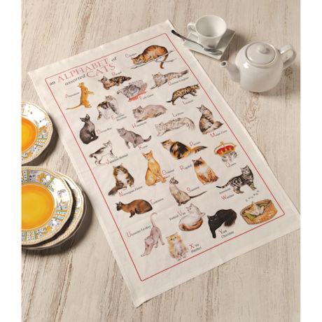 Alphabet of Cats Tea Towel