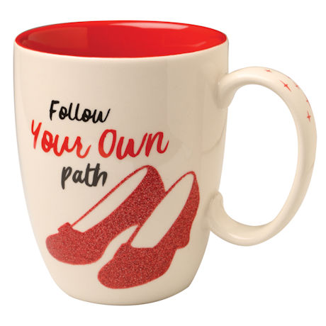 """The Wizard of Oz Dorothy's Ruby Slippers """"Follow Your Own Path"""" Mug"""