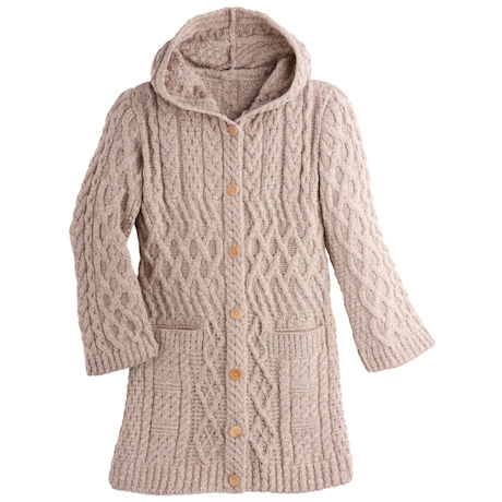 Cliona Hooded Aran Cardigan