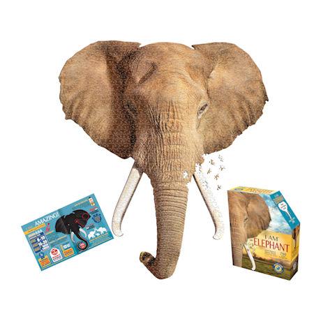 I am Animal Puzzle - Elephant