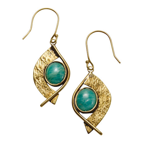 Amazonite Cabochons Earrings