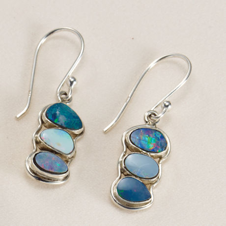 Opal Cluster Earrings