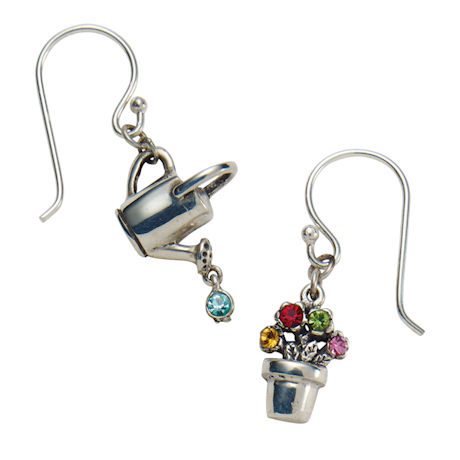 Watering Can and Flower Pot Earrings