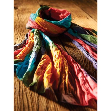 Northern Lights Crinkly Cotton Fashion Scarf