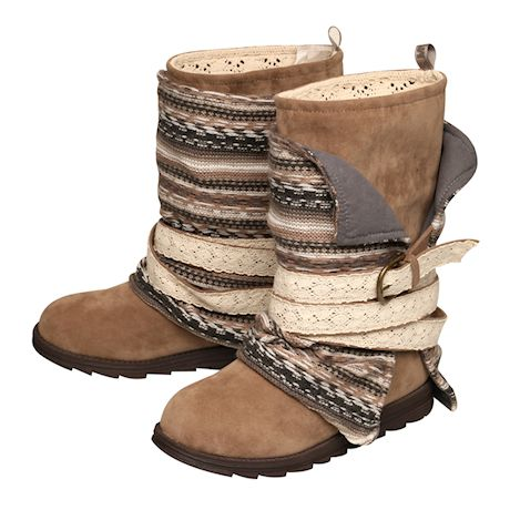 Women's Gray Faux Suede Boots