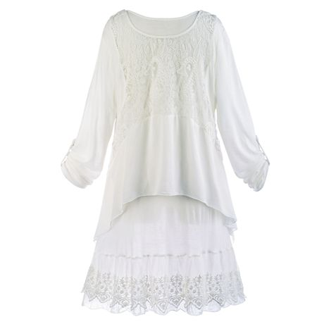 Wispy White Tunic Set