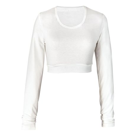 Solid Knit Long Sleeve Layering Piece