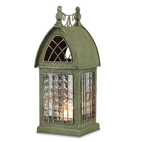 Glass Panel Architectural Tealight Lantern - Durham
