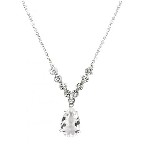 Queen Victoria Collet Drop Pendant Necklace