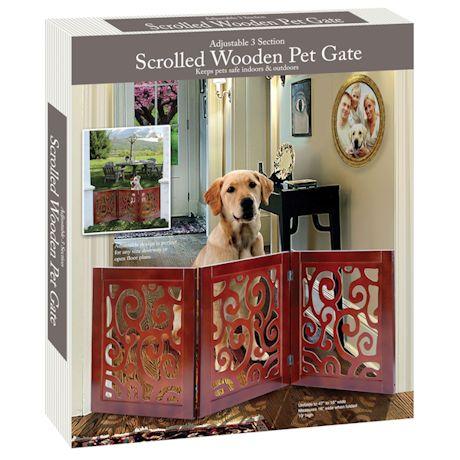 Scroll Design Pet Child Gate
