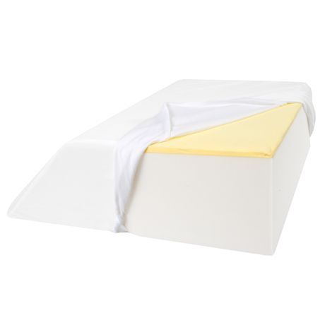 "Support Plus Elevated Leg Wedge Pillow - Memory Foam Cushion & Cover - 17"" Wide"