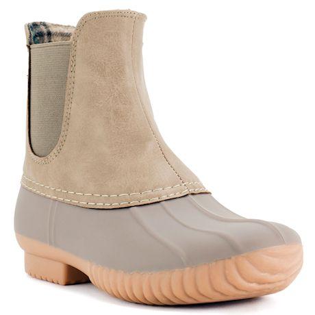 Avanti Women's Rocky Duck Style Heeled Rain Boots - Brown or Stone