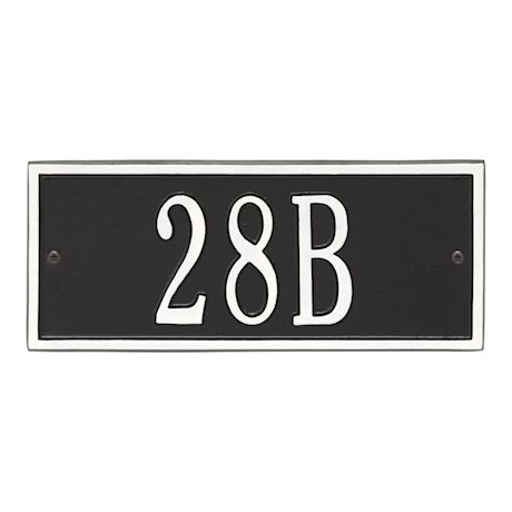 "Whitehall Personalized Cast Metal Address Plaque - Small Hartford Custom House Number Sign - 10.5"" x 4.25"" - Allows Special Characters"