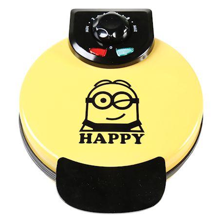 Minions Dave Waffle Maker - Non-Stick Electric Kitchen Appliance - Yellow