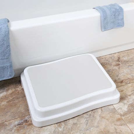 Support Plus Stackable Bath Safety Step - Slip-Resistant Stepping Stool Platform for Bathroom and Household Use