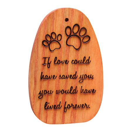 """Amazing Grace Woodstock Chimes - Engraved Pet Memorial """"If love could have saved you..."""""""