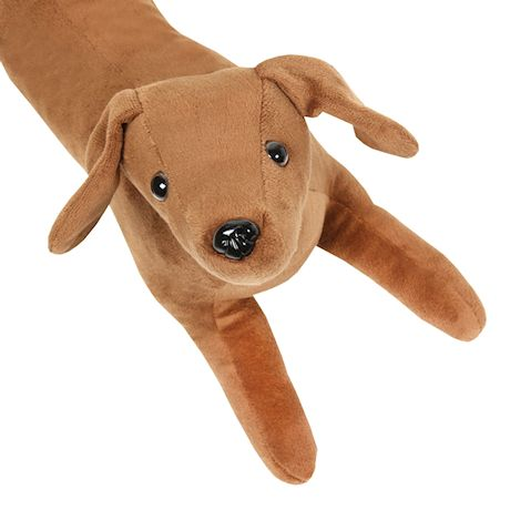 """What On Earth Exclusive Dachshund Dog Draft Dodger - Animal Shaped Weighted Door and Window Breeze Guard - 41.5"""" Long"""