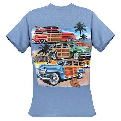 David Carey Officially Licensed Men's Chrysler Woodies T-shirt - Blue Tee