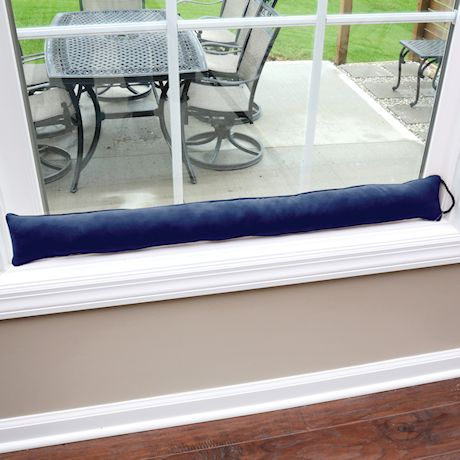 """Home District Faux Suede Draft Dodger with Handle - Weighted Door and Window Breeze Guard - 35.5"""" Long"""