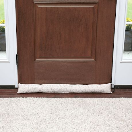 "Home District Jacquard Draft Dodger with Handle - Weighted Door and Window Breeze Guard - 35.5"" Long"