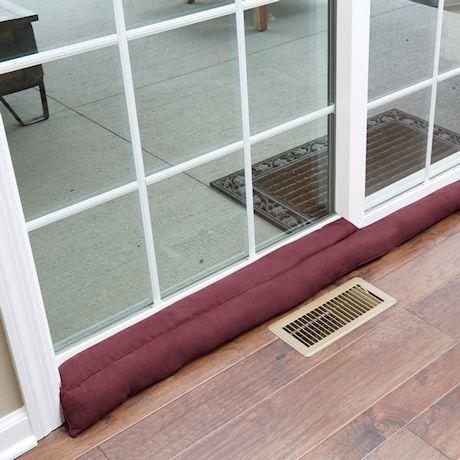 """Home District Exclusive Sliding Door Draft Dodger - Weighted Patio Door Breeze Guard - 71.5"""" Long"""