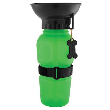 Highwave AutoDogMug Pet Sport Bottle - Portable Water Bowl - Holds 20 oz - Green