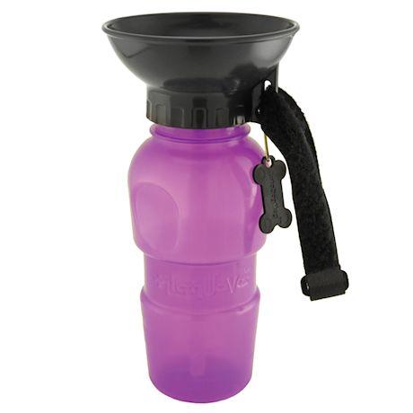 Highwave AutoDogMug Pet Sport Bottle - Portable Water Bowl - Holds 20 oz - Purple