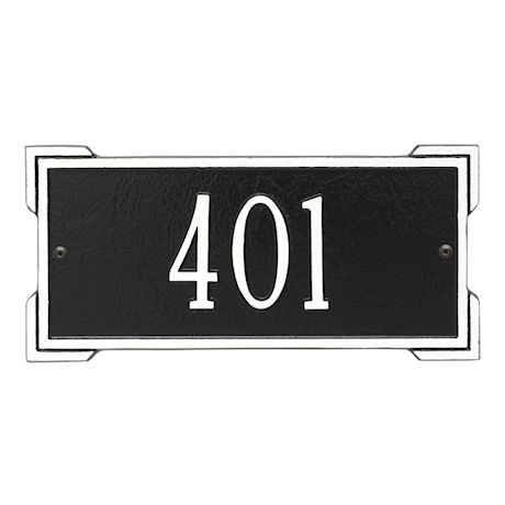 """Whitehall Personalized Cast Metal Address Plaque - Mini Roanoke 12"""" x 5.75"""" House Number Sign -Allows Special Characters"""