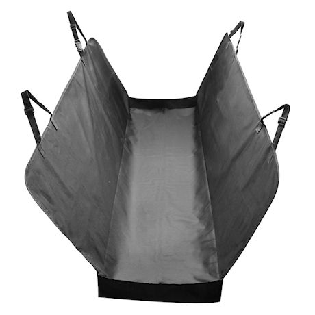 Pawriffic Dog Hammock Pet Car Seat Cover - Pet Mat Protects Vehicle from Dirt, Mud, Water and Scratches - Black