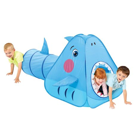 Etna Kids Shark Play Tent with Tunnel - Funny Indoor/Outdoor Pop-Up Playhouse for Bedroom, Playroom, Yard, Camping