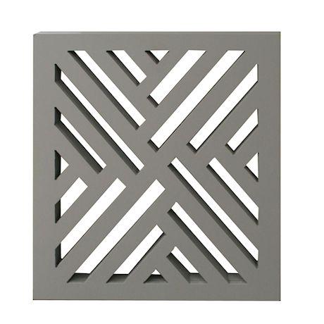 Etna 3-Panel Lattice Design Wooden Pet Gate - Freestanding Tri Fold Dog Fence for Doorways, Stairs - Indoor/Outdoor Decorative Pet Barrier