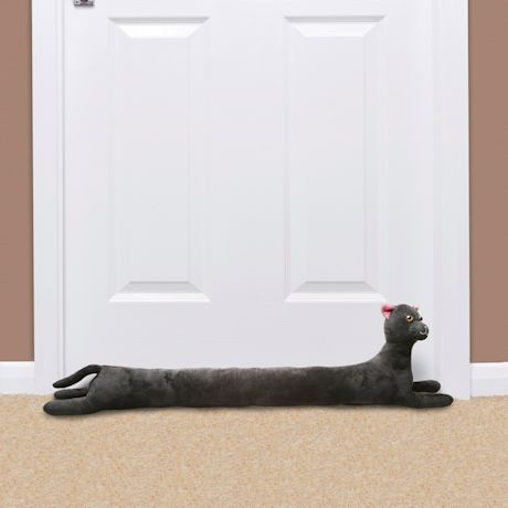 "WHAT ON EARTH Cat Draft Dodger - Animal Shaped Weighted Door/Window Breeze and Bug Guard, Noise Reducer Draft Stopper - 36"" Long"