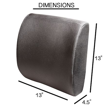 Support Plus Lumbar Support Cushion - Adjustable Memory Foam Back Pillow for Car, Home, Office Chair - Breathable, Removable Mesh Cover