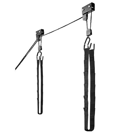 Great Working Tools Hanging Kayak Canoe Hoist Lift, Set of 2 - Garage Ceiling Mount 125 lb Capacity Heavy Duty
