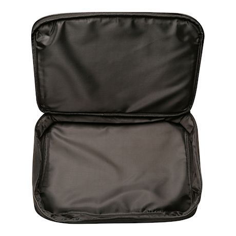 Two Lumps of Sugar Insulated Double Casserole Carrier Tote - Tuna Maria Hot Food Insulated Bag - Solid Black