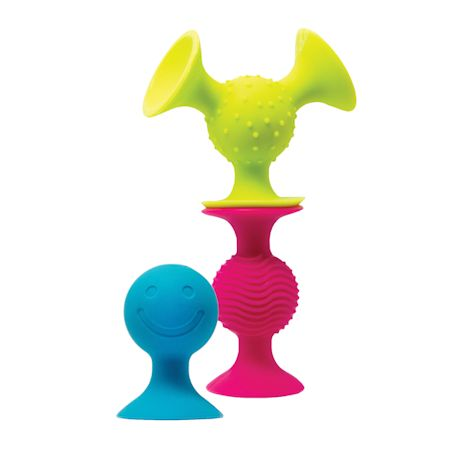 Fat Brain Toys PipSquigz 5pc Combo Set - Loops and Squigz Silicone Suction Toys