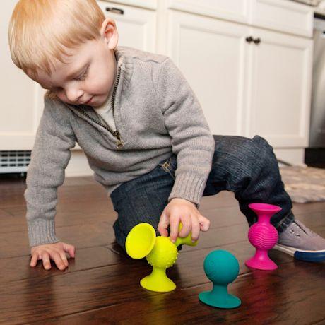Fat Brain Toys 12pc Squigz Combo Set - Suction Kupz, PipSquigz, Whirly Squigz