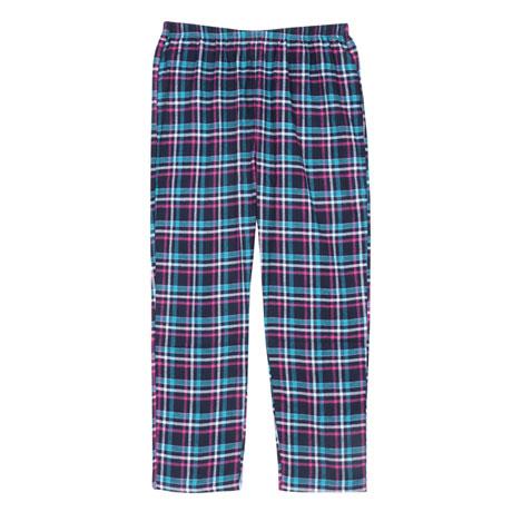Metropolitan Women's Flannel Pajama Set - Plus Size Long Sleeve PJ Top, Bottom