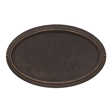 """Whitehall Personalized Address Plaque - Custom 1-Line Cast Aluminum Concord Oval House Number Wall Sign (15""""W x 9.5""""H)"""