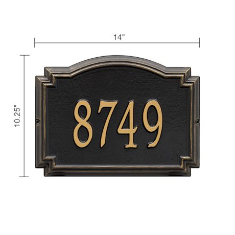 Whitehall Williamsburg Personalized Address Plaque