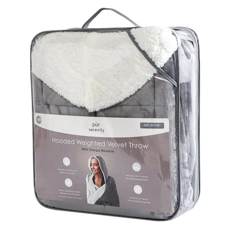 Sherpy Hoodie Zip Front Hooded Blanket Sweatshirt, Sherpa Fleece Lined Velvet