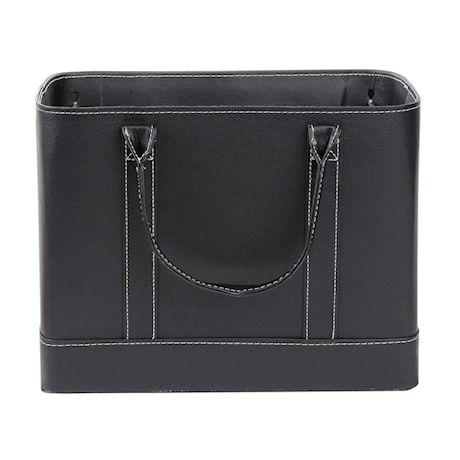 Home District Chic Hanging File Folder Organizer Tote - Portable Document Storage Bag with Carry Handles
