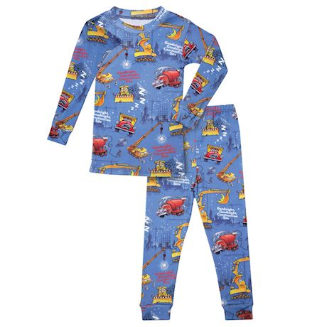 Books to Bed Children's Goodnight Construction Site Pajama