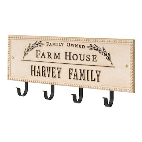 Farmhouse Hook Plaque